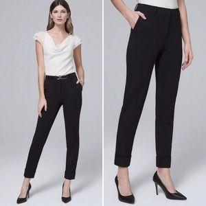 WHBM Effortless Girlfriend Ponte Knit Trouser Pant